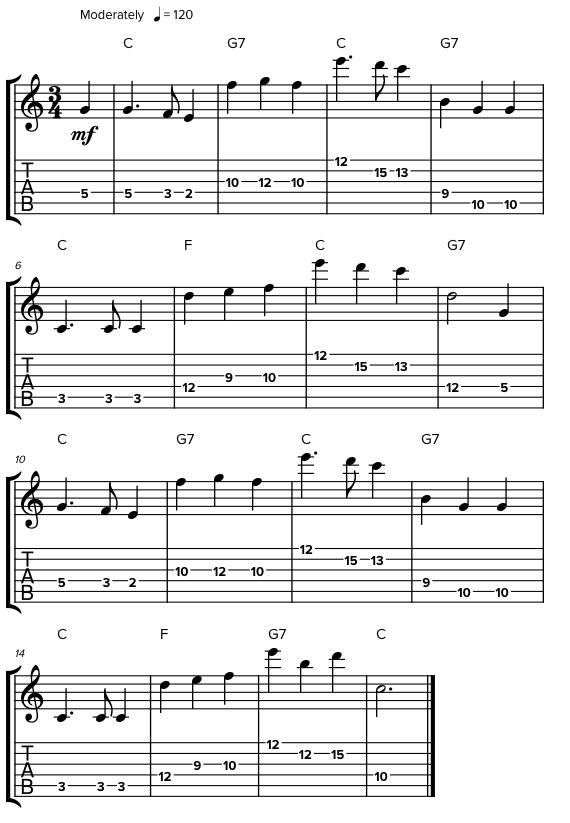 Как перемещаться по октавам на гитаре
