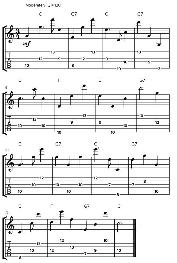 Мелодии с прыжками по октавам