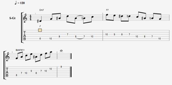 Джазовые арпеджио на гитаре