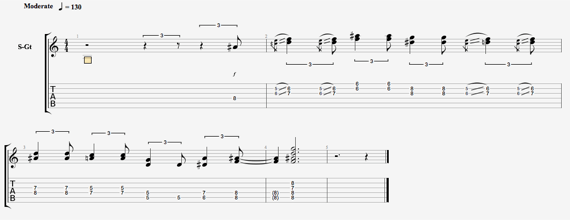 Фанковый ритм для гитары