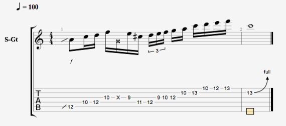 Блюзовое упражнение для гитары