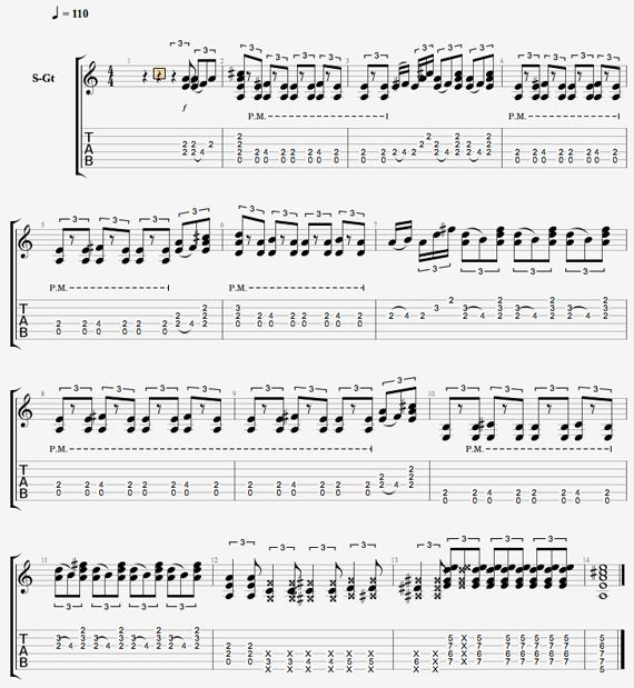 Скачать ноты блюза для гитары