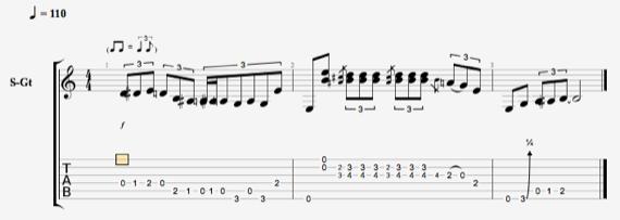 Стиви Рэй Вон фразы для гитары ноты
