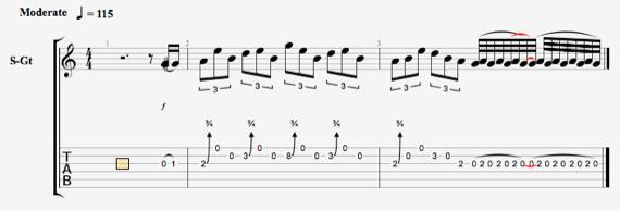 Срв ноты для гитары