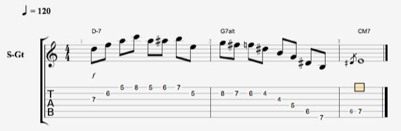 классический джаз на гитаре ноты