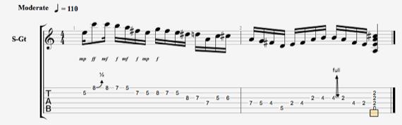 Окончание для соло ноты