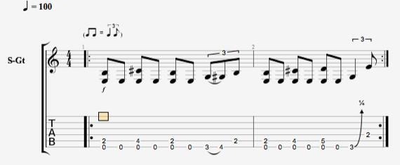 рифф на гитаре в стиле блюз