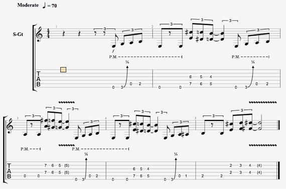 блюзовый ритм для гитары ноты