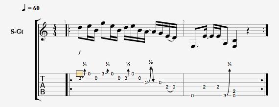 Блюзовый рифф для гитары