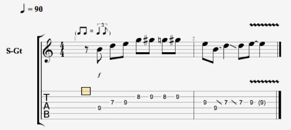 ноты для игры слайдом на гитаре