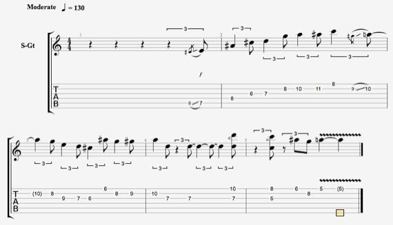 блюзовые ноты для гитары