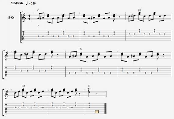 Гибридная техника на гитаре