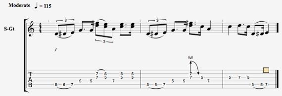 блюз рифф на гитаре