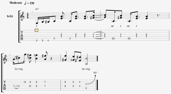 гибридная техника на гитаре ноты для изучения